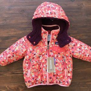 Patagonia Baby Jacket Floral Reversible 3-6 Months